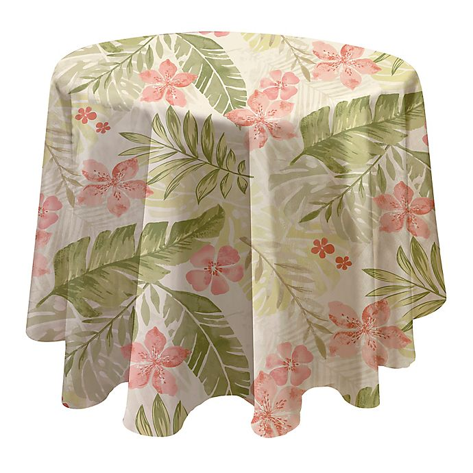 Alternate image 1 for Tropics Laminated Fabric 70-Inch Round Tablecloth