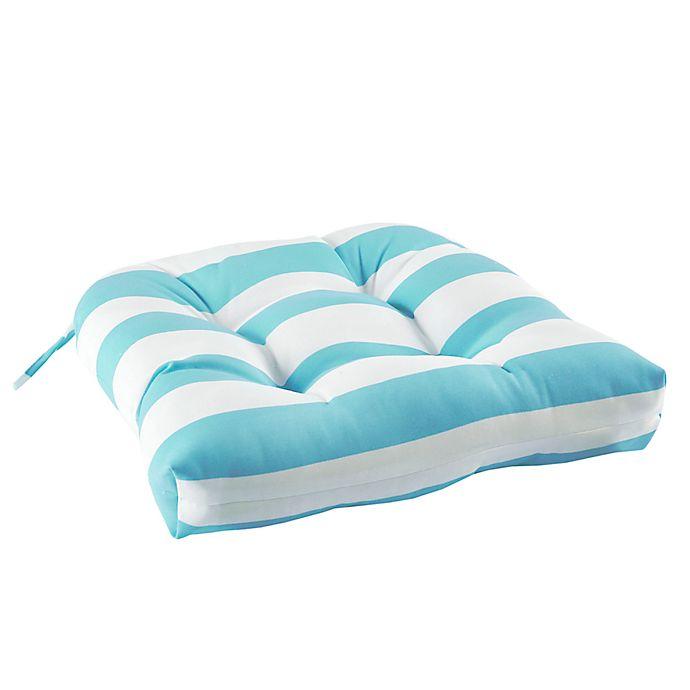 Alternate image 1 for Madison Park Percee Indoor/Outdoor Square Seat Cushion in Aqua