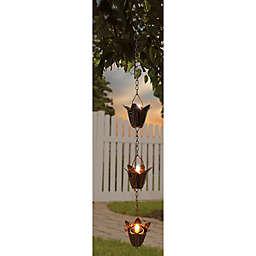 Flower 3-Light Solar Tea Light Dangler