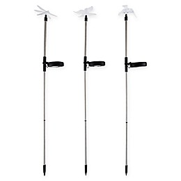 Pure Garden 3-Piece Solar Outdoor LED Yard Stakes