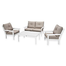 POLYWOOD Vineyard 4-Piece Patio Deep Seating Set