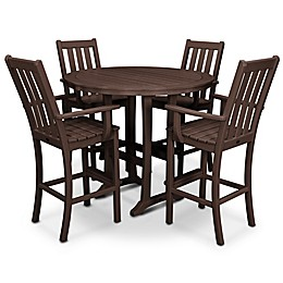 POLYWOOD® Vineyard 5-Piece Patio Bar Set