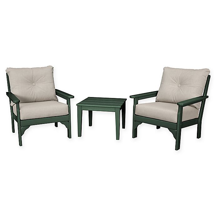 Alternate image 1 for POLYWOOD® Vineyard 3-Piece Deep Seat Patio Conversation Set