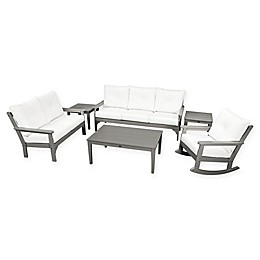 POLYWOOD Vineyard 6-Piece Patio Deep Seating Set with Cushions