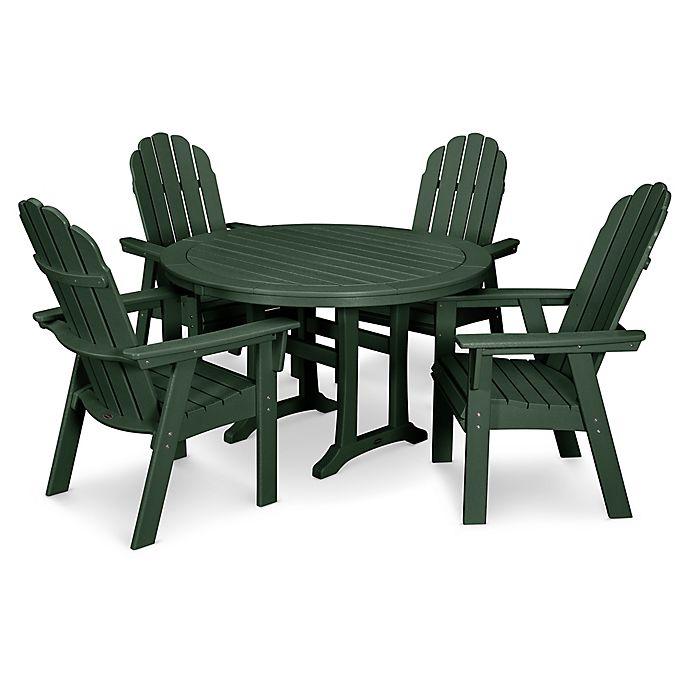 Alternate image 1 for POLYWOOD Vineyard Adirondack 5-Piece Nautical Trestle Dining Set in Green