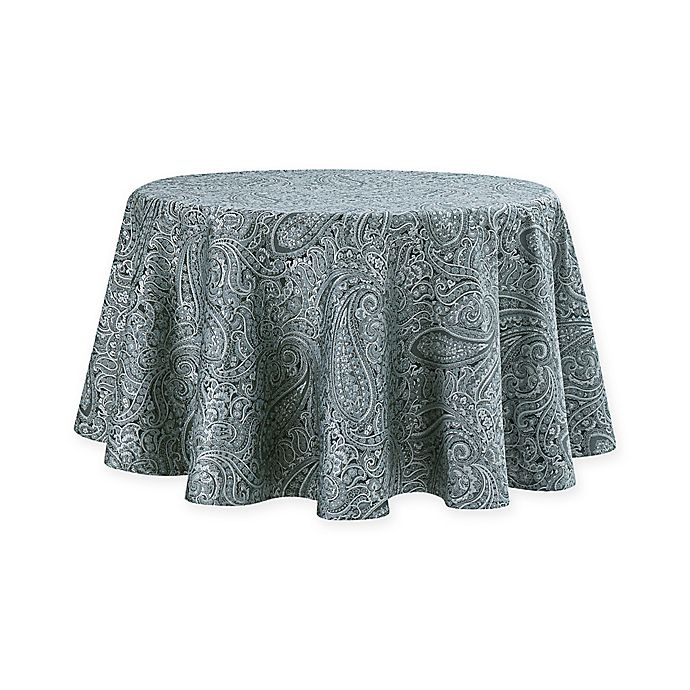 Alternate image 1 for Waterford® Linens Esmerelda Round Tablecloth