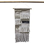 Woven Macrame 14-Inch x 30-Inch Wall Art in Grey/Taupe
