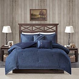 Woolrich® Perry 4-Piece Reversible Denim Twin/Twin XL Comforter Set in Blue