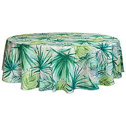 Destination Summer Palm Garden Round Indoor/Outdoor Tablecloth