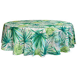 Destination Summer Palm Garden Round Indoor/Outdoor Tablecloth