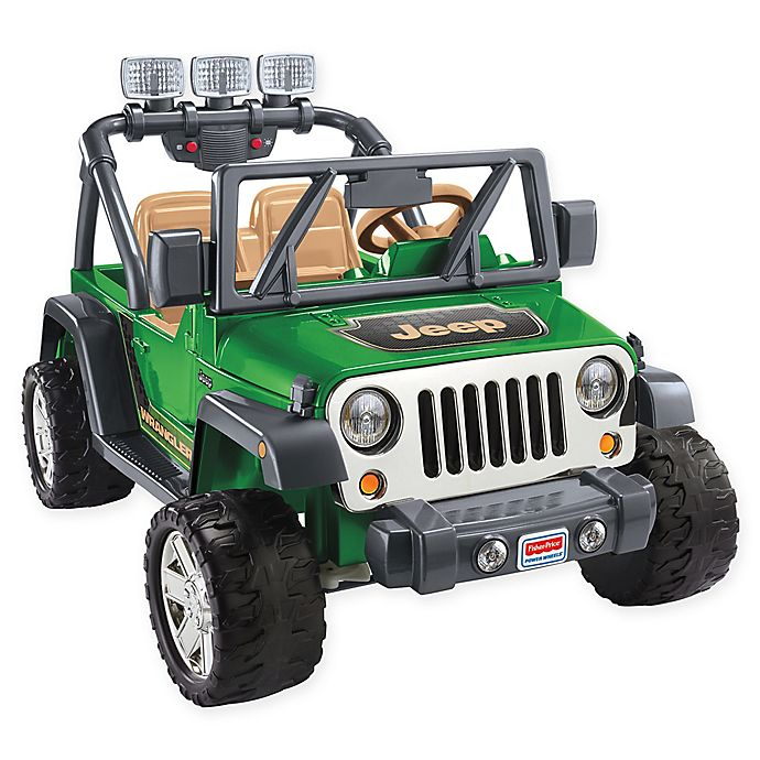 Green Jeep Wrangler >> Fisher Price Power Wheels Jeep Wrangler In Green