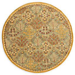 Safavieh Antiquity Estera 6' Round Handcrafted Area Rug in Light Blue