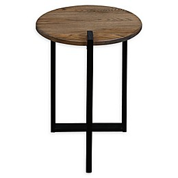 American Trails Sundial Contemporary Round End Table in Grey/Black