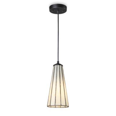Elk Lighting Lumino 1 Light Pendant Ceiling Lamp In Matte Black Comet White