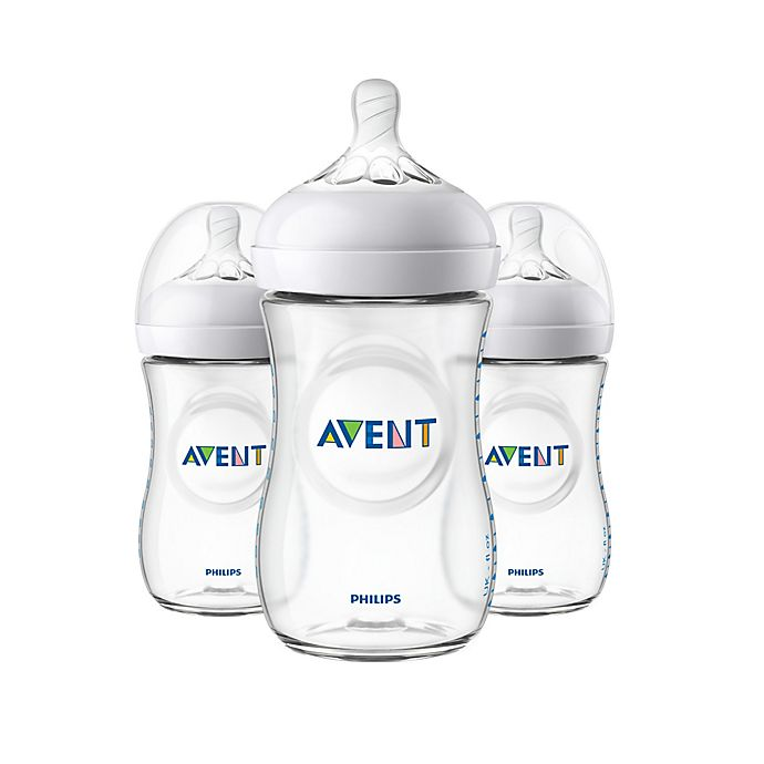 Alternate image 1 for Phillips Avent Natural 3-Pack 9 oz. Bottles in Clear