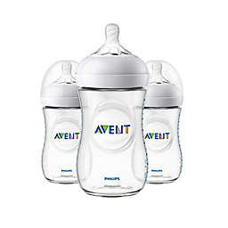 Phillips Avent Natural 3-Pack 9 oz. Bottles in Clear