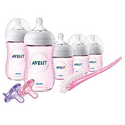 Philips Avent Natural Baby Bottle Infant Gift Set in Pink