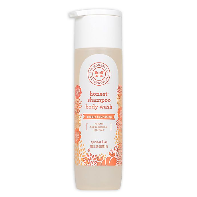 Alternate image 1 for Honest 10 fl. oz. Shampoo + Body Wash Deeply Nourishing in Apricot Kiss