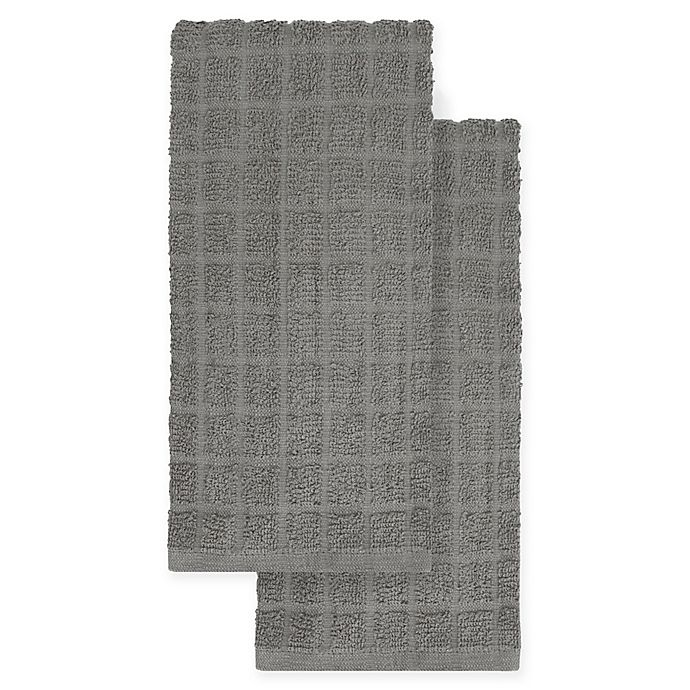 Alternate image 1 for KitchenSmart® Colors 2-Pack Solid Kitchen Towels
