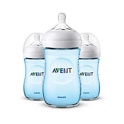 Phillips Avent Natural 3-Pack 9 oz. Bottles in Blue