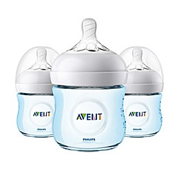Philips Avent 3-Pack 4 oz. Natural Baby Bottles in Blue