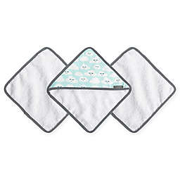 JJ Cole® 3-Pack Cloudy Smiles Washcloths in Blue