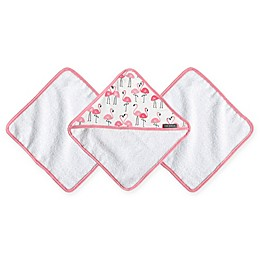 JJ Cole® 3-Pack Pink Flamingo Washcloths