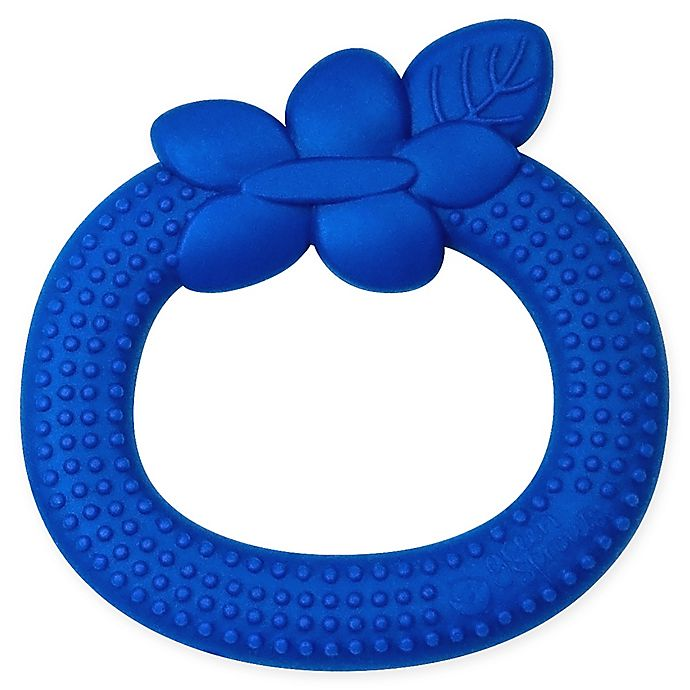 Alternate image 1 for Green Sprouts® Silicone Teether Blueberry in Blue