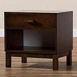 Baxton Studio Deirdre 1-Drawer Wood Nightstand Collection