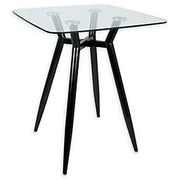 LumiSource Clara Metal and Glass Counter Table
