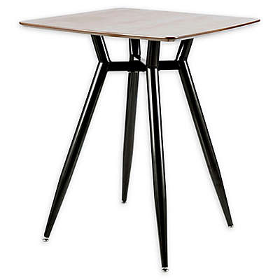 LumiSource Clara Metal and Wood Counter Table in Black/Walnut