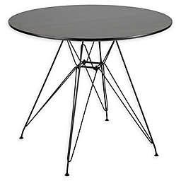 LumiSource Avery Mid-Century Modern Round Dining Table in Walnut