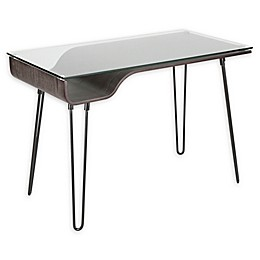 LumiSource Avery Mid-Century Modern Desk in Dark Grey