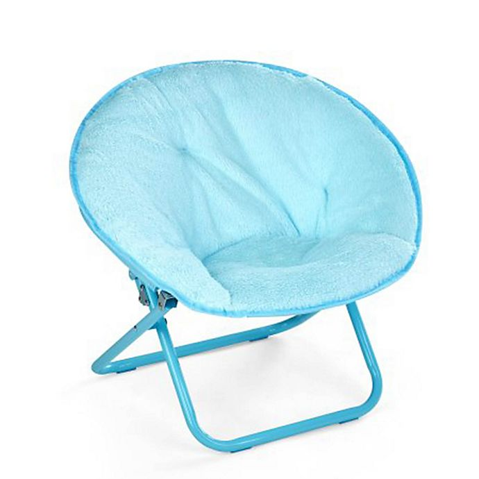 Fabulous American Kids Faux Fur Saucer Chair In Teal Theyellowbook Wood Chair Design Ideas Theyellowbookinfo