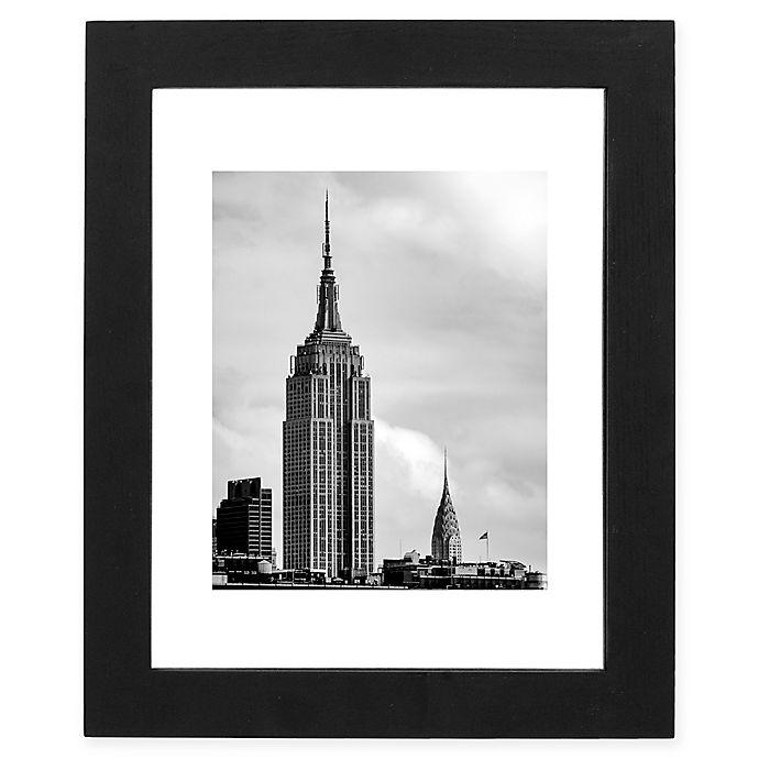 Alternate image 1 for Malden® Gallery 11-Inch x 14-Inch Floater Frame in Black