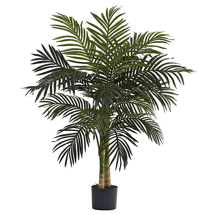 Alternate image 1 for Nearly Natural™ 4-Foot Golden Cane Palm Tree in Nursery Pot