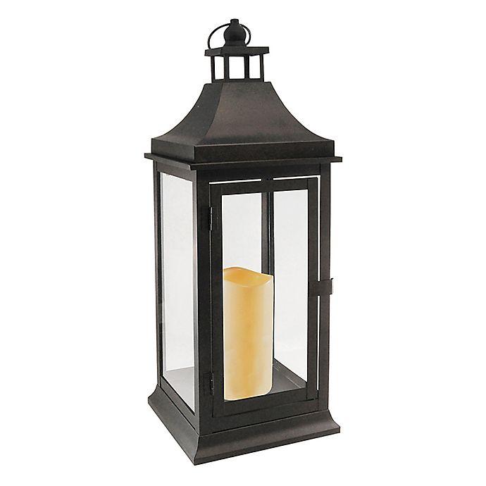 Clic 20 Inch Metal Lantern With Led