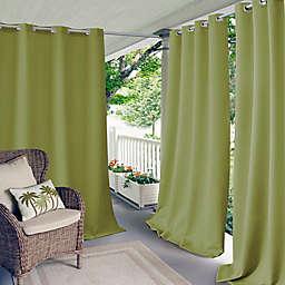Elrene Aiden Connor 108-Inch Grommet Indoor/Outdoor Window Curtain Panel in Lime (Single)