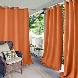 Elrene Aiden Connor 108-Inch Grommet Indoor/Outdoor Window Curtain Panel in Orange (Single)