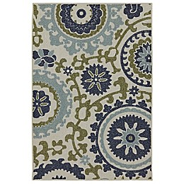 Mohawk Home Savannah 2'6 x 3'10 Accent Rug in Blue/Multi