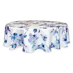 Lenox® Indigo Floral 70-Inch Round Tablecloth