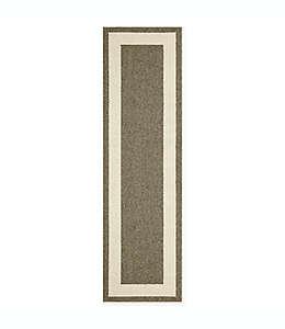 Tapete para pasillo Walker con borde clásico, 60.96 cm x 2.13 m en beige