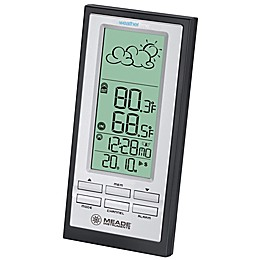 Meade® Instruments Personal Weather Station with Atomic Clock in Black/Silver