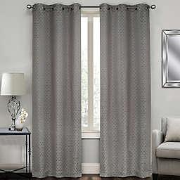 Sydney Jacquard Grommet Window Curtain Panel Pair