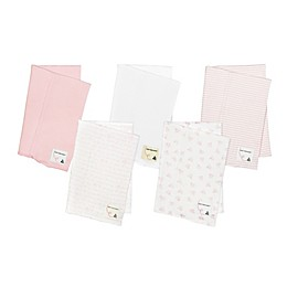 Burt's Bees Baby® 5-Pack Organic Cotton Burp Cloths in Pink