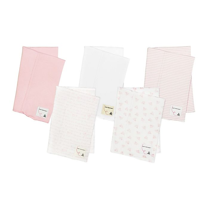Alternate image 1 for Burt's Bees Baby® 5-Pack Organic Cotton Burp Cloths in Pink