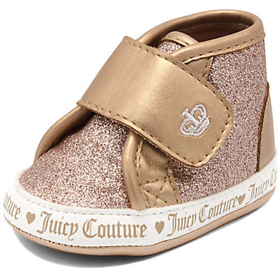 Juicy Couture® Glitter High Top Sneaker in Rose Gold