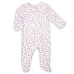 aden® by aden + anais® Sze 0-3M Dot Footed Coverall in White