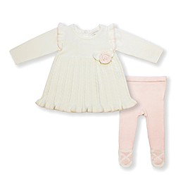 Clasix Beginnings Sweater Dress and Tights Set in Ivory