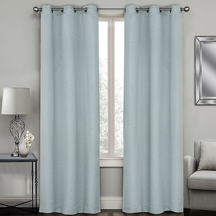 Buy Sydney Jacquard 95-Inch Grommet Window Curtain Panel